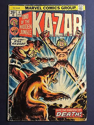 Ka-Zar Comic Volume 1 - #4 From July 1974 By Marvel Comics