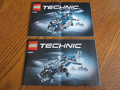 Lego Technic 42020 Twin-rotor Helicopter (2 Books) Instruction Manuals Only