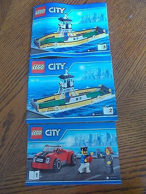 Lego City 60119 Ferry (Books 1, 2 and 3) Instruction Manuals Only