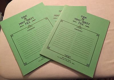 G&K Mint Sheet File - Set Of 3 Stamp Albums