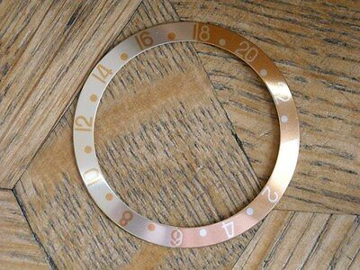 Used Genuine ROLEX Insert for GMT MASTER II 16713 Root Beer sapphire cryst n° 1.