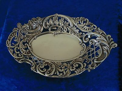Antique Solid Silver Dish