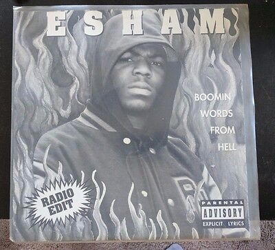 "Esham Boomin Words From Hell 12"" Vinyl ICP Insane Clown Posse"