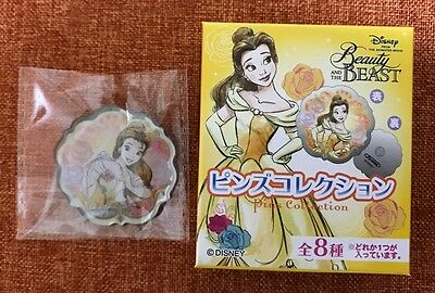 Japan Disney Beauty and the Beast Pins Collection Pin (B) Belle and Rose Boxed