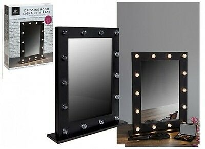 14 LED BULB LIGHT UP MAKEUP DRESSING ROOM TABLE HOLLYWOOD MIRROR 50 x 40 cm