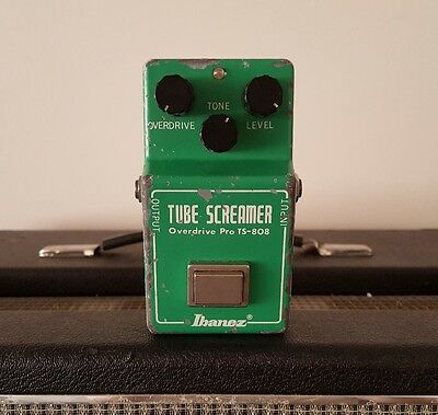 Vintage 1980 Ibanez ® TS808 Tube Screamer Original Overdrive Guitar Pedal JRC