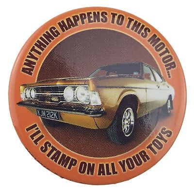 10 x Life on Mars Gene Hunt Anything Happens To This Motor 38mm Button Badge's