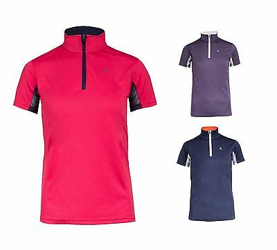 Horze Kids UV Equestrian Sport Polo Shirt
