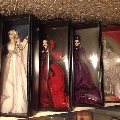 Haunted Beauties Barbie Set of 4 Ghost Vampire Lady of the Manor Zombie NRFB