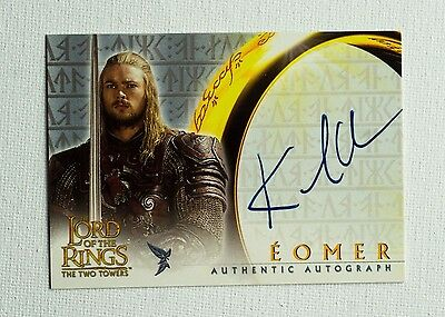 Karl Urban Autograph / Eomer / Lord of the Rings Trading Cards