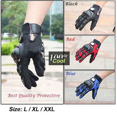 Quality Pro Carbon Fiber Bike Motorcycle Motorbike Racing Protective Gloves Full