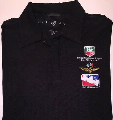 Nike Stretch Tag Heuer Indy 500 Racing League IRL Golf Polo Sport Shirt Large