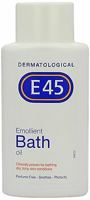 E45 Emollient Bath Oil for dry, itchy skin conditions - 250ml