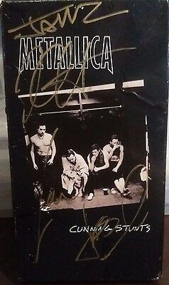 Metallica Cunning Stunts VHS Signed autographed by artists