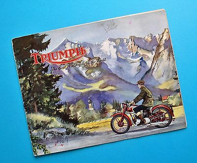1949 Triumph Motorcycle Brochure T100 Tiger 5T Speed Twin 3T DeLuxe