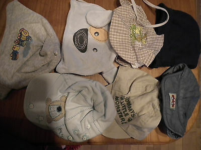 Baby Boy Clothes, Hats, 0-6 mth, 7 items   (172)
