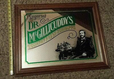 Vintage Dr. McGillicuddy's Country Fresh Schnapps  mirror sign beer miller