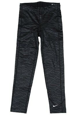 Nike Pro Combat Girls Thermal Printed Tights Black New M (10-12 YEARS OF AGE)