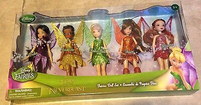 TinkerBell & Fairies Legend of the NeverBeast 5 piece Doll Set New Disney Parks