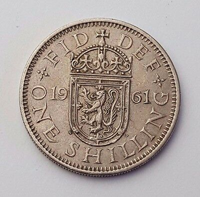 Dated : 1961 - One Shilling - Coin - Queen Elizabeth II - Great Britain