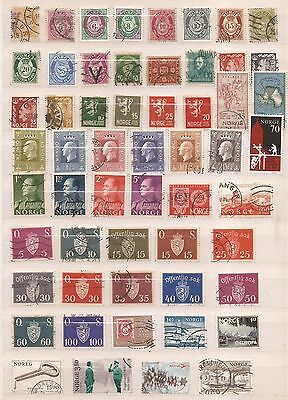 Norway  -  Lot Of  108 Stamps  -  2 Images