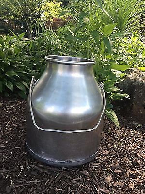 Vintage Stainless Steel Delaval Milk Can Bucket 5 Gallon Pail Farm Dairy