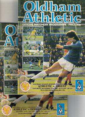 1980/1 Oldham Athletic v Orient + Derby County