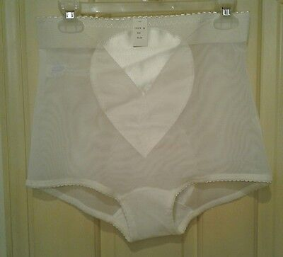 Vintage BI-FLEX Panty Girdle Shaper Sheer White 856 Vintage Size 4XL NWT