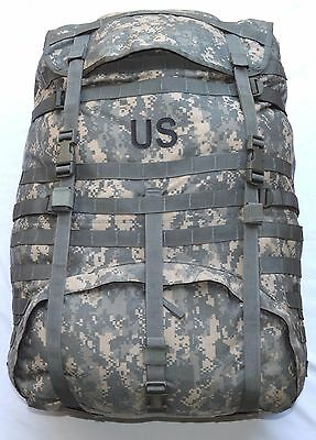 US Army MOLLE 2 II ACU Camo Backpack Large Rucksack Military Good W/O Frame