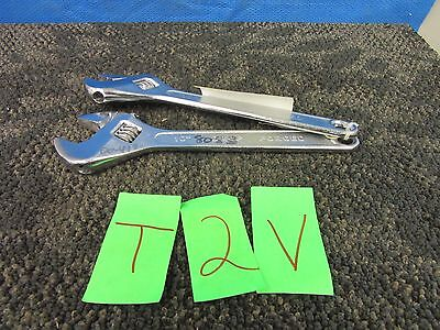 "2 Toolbasix Adjustable Wrench 10"" Tool Usa Military Surplus Crescent Used"