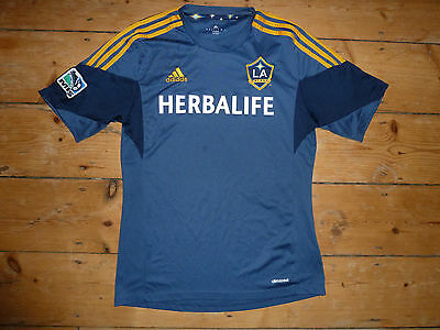 LA GALAXY football shirt Los Angeles medium Grey Soccer Jersey Adidas Maglia