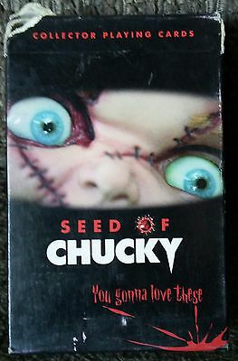 Seed Of Chucky Child's Play Horror Movie Tie In Playing Cards Out Of Print Rare!