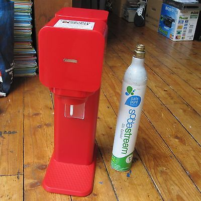 Sodastream Source Red Drinks Making Machine Soda Stream Empty Gas Cannister