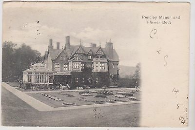 Pendley Manor And Flower Beds - Cow Lane - Tring - Hertfordshire - Postcard