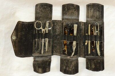Surgical Wallet Post-Civil War with Evans; Otto & Sons;Otto & Reynders Scalpels