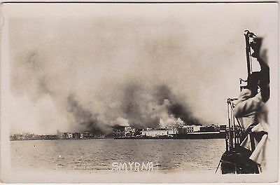 Smyrna On Fire - From The Evacuation Ship - Turkey - Rp - Superb Card