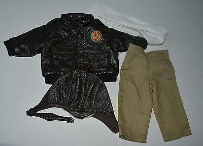 *EUC* American Girl Molly Aviator Outfit~Scarf, Pants, Bomber Jacket, Hat