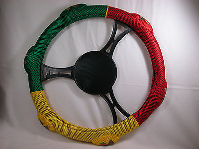 Rasta Country Flag Steering Wheel Cover for Cars or Small Pick Up Last Stock