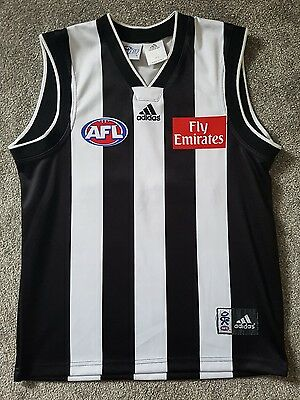 Mens AFL Collingwood Magpies On-Field 22 Wipe Off 5 Top Size M Adidas Guernsey