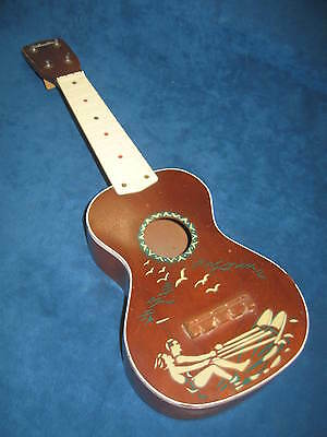 Vtg SILVERTONE UKULELE Hawaiian Themed w/Orig Case...Nice Condition