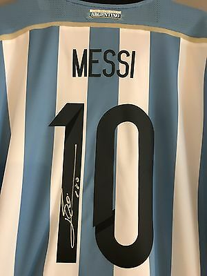 Lionel Messi Autographed 2014 Argentina Home Jersey