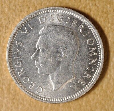 1938 Great Britain Six Pence Silver Coin#