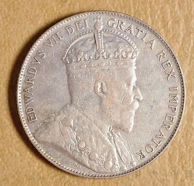 1908 New Foundland Silver Half Dollar#