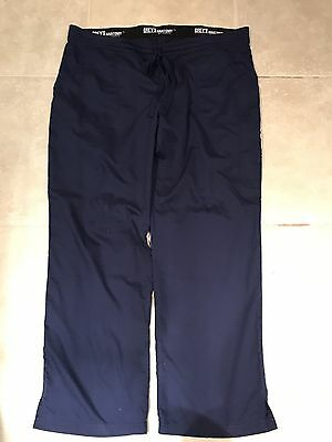 Grey's Anatomy Urban 4 Pocket Drawstring Waist Cargo Scrub Pants XL