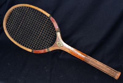 Vintage Wood 1920 E Kent LENOX Pawtucket RI Tennis Racket Intact Strings