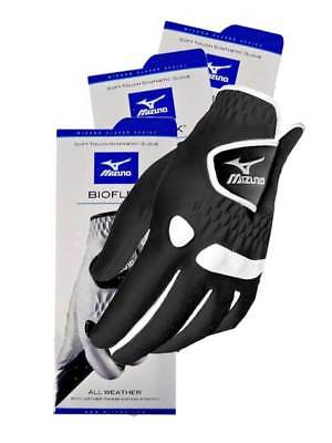 Mizuno Bioflex Pack Of 3 Golf Gloves Black