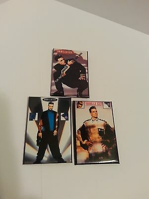 Lot Of 3 Vanilla Ice Pinback Badges