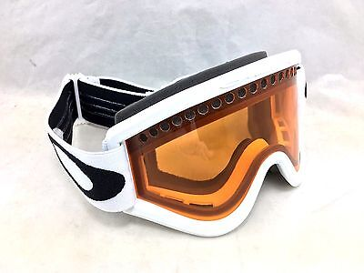New Oakley E-Frame Snow Goggles White with Persimmon Lens