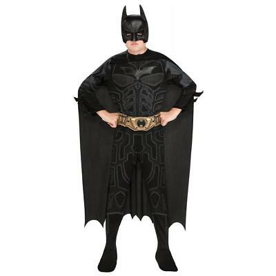 NEW Batman The Dark Knight Action Suit Kids size 8/10 Licensed Costume Rubie's