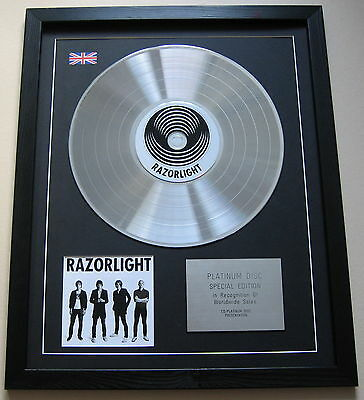 RAZORLIGHT CD / PLATINUM LP DISC Presentation